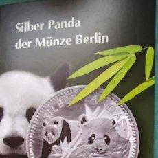 Medallas temáticas: PANDA - 2016 - 1 / 4 ONZA DE PLATA STERLING DE LA FÁBRICA ALEMANA DE LAS MONEDAS - NUEVA. Lote 183322043