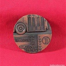 Medallas temáticas: MEDALLA EN BRONCE. CENTENARIO DEL TRANVIA. 27-6-1872/1972. BARCELONA.. Lote 183394476