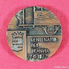 Medallas temáticas: MEDALLA EN BRONCE. CENTENARIO DEL TRANVIA 27-6-1872-1972. BARCELONA.. Lote 183399326