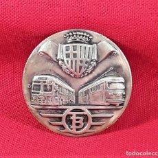 Medallas temáticas: MEDALLA EN PLATA. TRANSPORTES DE BARCELONA S.A. S.P.M. SIGLO XX.. Lote 183406398