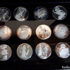 Medallas temáticas: LOTE COLECCION COMPLETA 15 MEDALLAS DE DALI PLATA PURA PROOF ESTUCHE GARANTIA, ORIGINALES. Lote 183486567