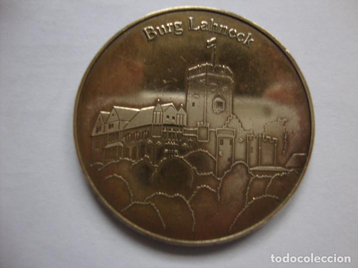 Medallas temáticas: ANTIGUA MEDALLA fortaleza de Lahneck castillo del siglo XIII en Lahnstein, Alemania EN BRONCE - Foto 3 - 183562030