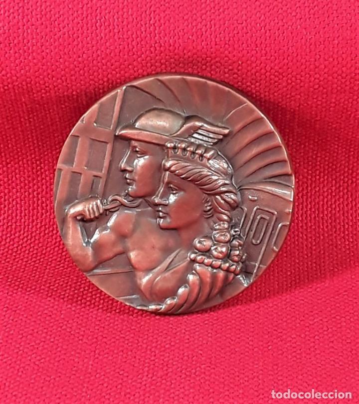 MEDALLA EN BRONCE. 50 ANIVERSARIO 1924-1974. F.C. METROPOLITANO. BARCELONA S.A. (Numismática - Medallería - Temática)