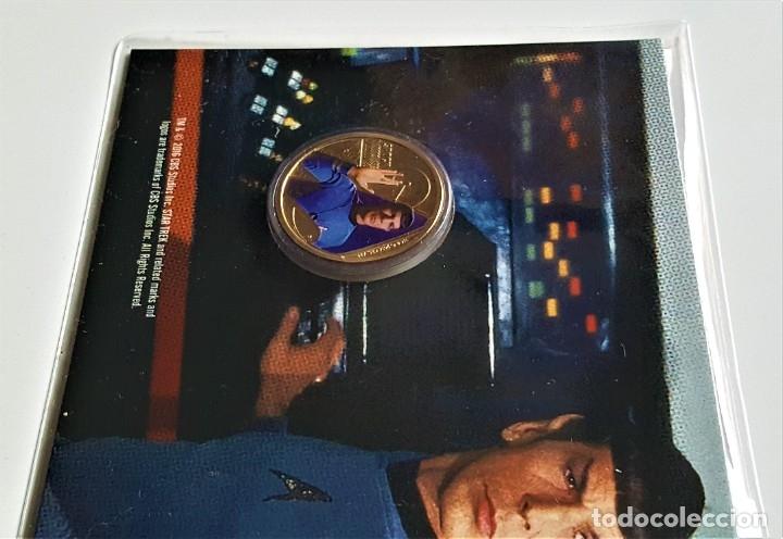 Medallas temáticas: MONEDA ORO BAÑADA STAR TREK SPOCK $1 ONE DOLLAR UNC 2016 MONEDA COIN PERTH MINT - COLECCIONISTAS - Foto 3 - 184586341