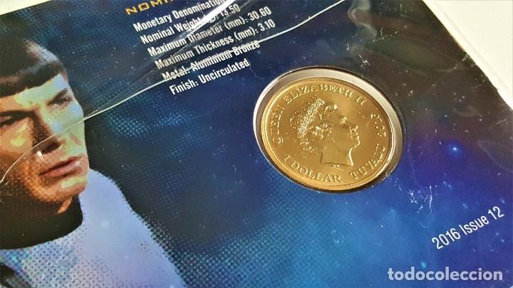 Medallas temáticas: MONEDA ORO BAÑADA STAR TREK SPOCK $1 ONE DOLLAR UNC 2016 MONEDA COIN PERTH MINT - COLECCIONISTAS - Foto 5 - 184586341