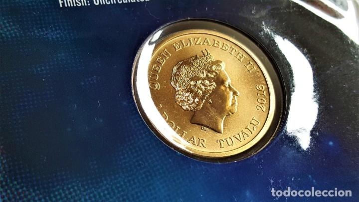 Medallas temáticas: MONEDA ORO BAÑADA STAR TREK SPOCK $1 ONE DOLLAR UNC 2016 MONEDA COIN PERTH MINT - COLECCIONISTAS - Foto 6 - 184586341