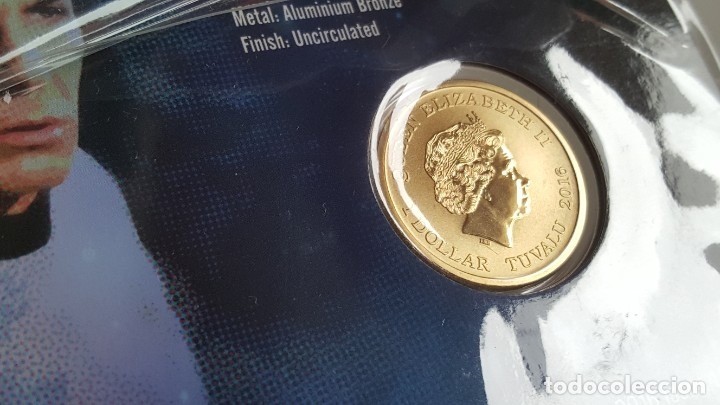 Medallas temáticas: MONEDA ORO BAÑADA STAR TREK SPOCK $1 ONE DOLLAR UNC 2016 MONEDA COIN PERTH MINT - COLECCIONISTAS - Foto 7 - 184586341