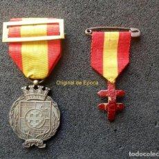 Medallas temáticas: (JX-191160)DOS MEDALLAS,LUCHA CONTRA LA TUBERCULOSIS Y CHARITAS ,AGOSTO 1917,CORONA MURAL Y CRUZ. Lote 184716441