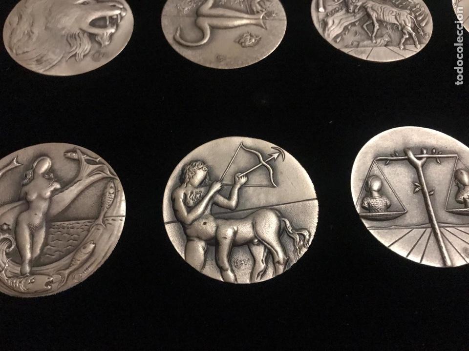 Medallas temáticas: Medallas plata Dalí Horóscopos - Foto 3 - 184789578