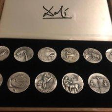 Medallas temáticas: MEDALLAS PLATA DALÍ HORÓSCOPOS. Lote 184789578