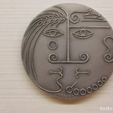 Medallas temáticas: SUBIRACHS, MEDALLA PLATA MACIZA, MEDALLA D'HONOR LLOTJA DE CEREALS, BARCELONA, 7 CM DE DIÁMETRO. Lote 186226650