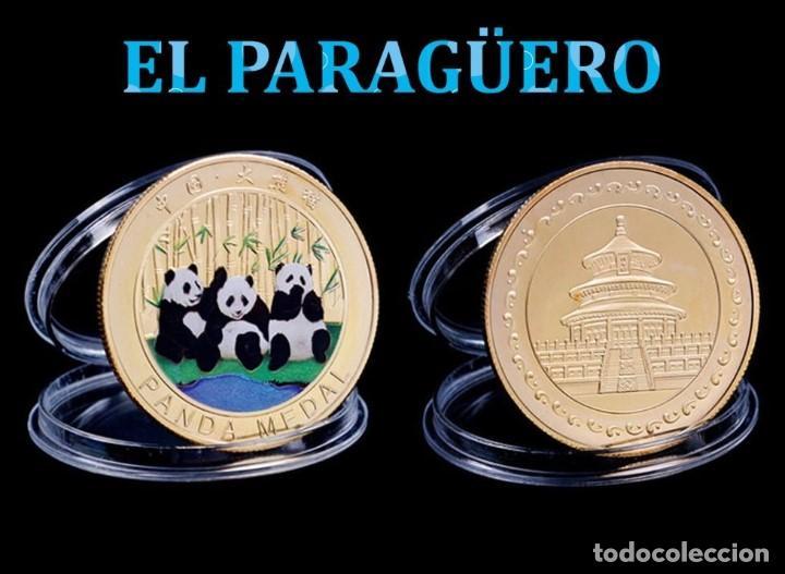 MEDALLA TIPO MONEDA ORO 24 KILATES ( HOMENAJE A LOS OSOS PANDA ) - PESA 13,22 GRAMOS - Nº8 (Numismática - Medallería - Temática)