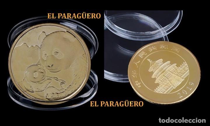 MEDALLA TIPO MONEDA ORO 24 KILATES ( AÑO 2019 HOMENAJE A LOS OSOS PANDA ) - PESA 13,89 GRAMOS - Nº10 (Numismática - Medallería - Temática)