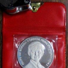 Medallas temáticas: FELIPE DE BORBON Y GRECIA, PRINCIPE DE ASTURIAS 1977. MEDALLA PLATA. PROOF. LOTE 0099. Lote 189109662