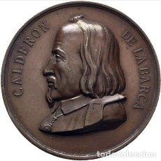 Medallas temáticas: MEDALLA COBRE CENTENARIO DE CALDERON DE LA BARCA.1881. Lote 189420662