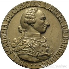Medallas temáticas: MEDALLA BRONCE SEGUNDO CENTENARIO DE FUNDACION REAL ACADEMIA DE CIENCIAS Y ARTES BARCELONA.1964. Lote 189424650