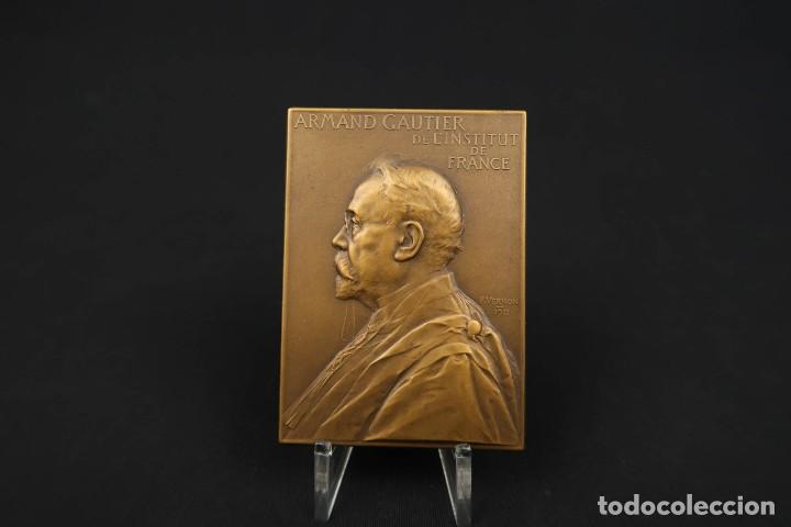 ANTIGUA MEDALLA DE BRONCE ARMAND GAUTIER FRANCIA AÑO 1911 (Numismática - Medallería - Temática)