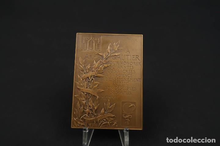 Medallas temáticas: Antigua Medalla de Bronce Armand Gautier Francia Año 1911 - Foto 5 - 189436471