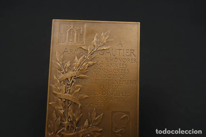 Medallas temáticas: Antigua Medalla de Bronce Armand Gautier Francia Año 1911 - Foto 6 - 189436471
