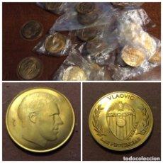 Medallas temáticas: VALENCIA CLUB DE FÚTBOL. COBRE. EDITADO POR LAS PROVINCIAS. FDC/SC. LOTE DE VEINTIUNA PIEZAS (21).. Lote 189832631