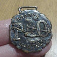 Medallas temáticas: ANTIGUA MEDALLA.ARADOS P & O MANTELS.ROBERT,PUSTERLA.ADOLFO MANTELS Y CIA. BUENOS AIRES ARGENTINA. Lote 189900096