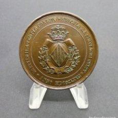 Medallas temáticas: VALENCIA.- SAECVLO II. A TEMPLO CONDITO. SAECVLO V.A. SIMVLACRI CVLTV. ANNO MDCCCLXVII.-(1867).. Lote 190390045