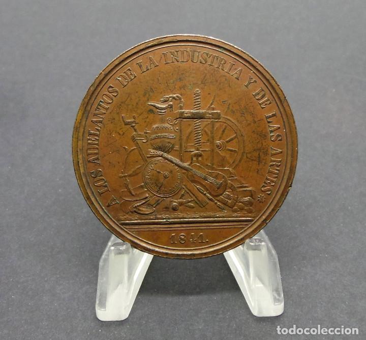 Medallas temáticas: MADRID.- DIPUTACIÓN DE MADRID PREMIA EL MÉRITO A LOS ADELANTOS DE LA INDUSTRIA Y DE LAS ARTES. 1841 - Foto 2 - 190390415