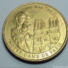 Medallas temáticas: MEDALLA PAPA FRANCISCO Y JUAN PABLO II NOTRE DAME PARIS. Lote 190489895