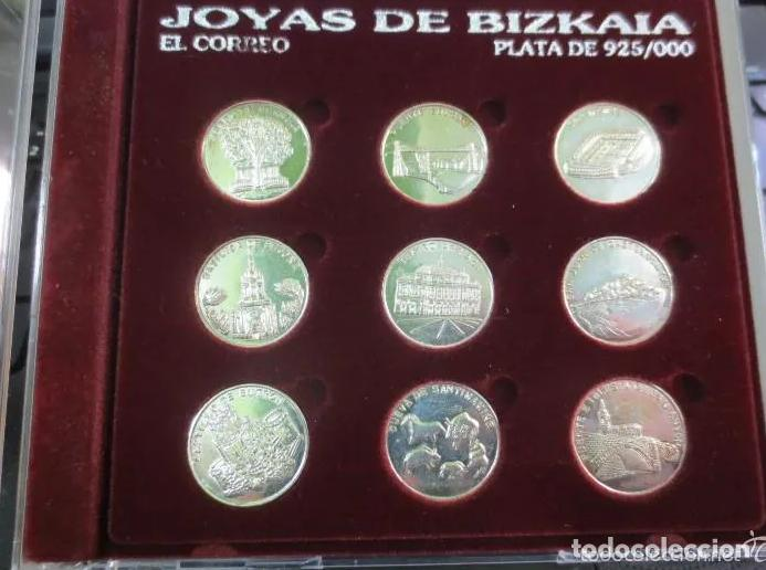 JOYAS DE BIZKAIA MEDALLAS MONEDAS PLATA LEY 925 COMPLETA CON CAJA ESTUCHE RARAS!! PARA COLECCIÓN!!!! (Numismática - Medallería - Temática)