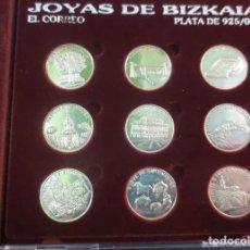 Medallas temáticas: JOYAS DE BIZKAIA MEDALLAS MONEDAS PLATA LEY 925 COMPLETA CON CAJA ESTUCHE RARAS!! PARA COLECCIÓN!!!!. Lote 190494335