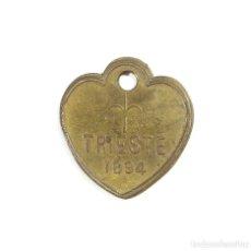 Medallas temáticas: TRIESTE. ITALIA.- ARBITRIO SOBRE LOS PERROS. 1894.. Lote 190778331