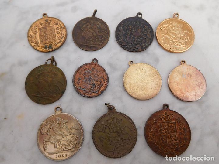 Medallas temáticas: Lote de 11 medallas pequeñas inglesas - Foto 2 - 192066430