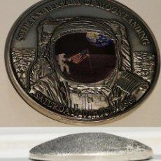 Medallas temáticas: INTERESANTE MEDALLON EN 3D CONMEMORATIVO AL 50 ANIVERSARIO DEL ATERRIZAJE DEL APOLLO 11 EN LA LUNA. Lote 206932076