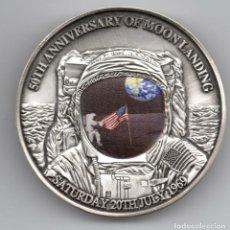 Medalhas temáticas: INTERESANTE MEDALLON EN 3D CONMEMORATIVO AL 50 ANIVERSARIO DEL ATERRIZAJE DEL APOLLO 11 EN LA LUNA. Lote 219281100