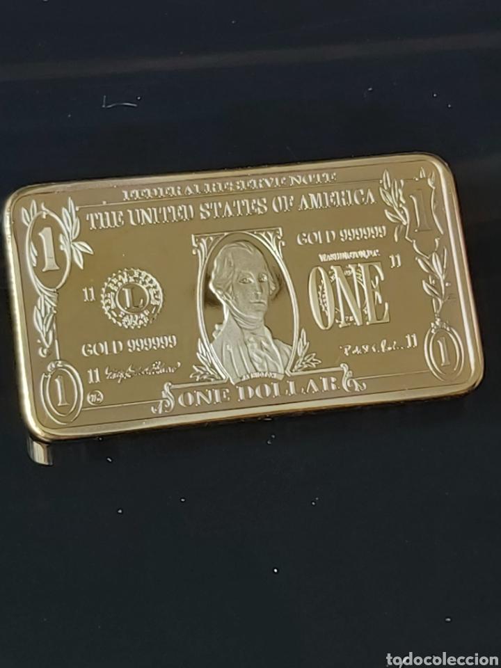 EXCLUSIVO LINGOTE DE ORO DE 1 DÓLAR AMERICANO (Numismática - Medallería - Temática)