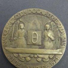Medallas temáticas: PLACA MEDALLA INAUGURAÇAO DOCA ALFREDO DA SILVA VASCO DA CONCENÇAO ESCULTOR ESTALEIRO MARGUEIRA. Lote 193169721