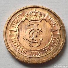 Medallas temáticas: BODAS DE PLATA DE LOS REYES MEDALLA DE COBRE - FNMT. Lote 193353345