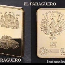 Medalhas temáticas: LINGOTE ORO 24 KILATES 30 GRAMOS ( TANQUE - ESTALINGRADO ) Nº2. Lote 193357743