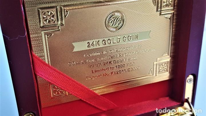 Medallas temáticas: MONEDA ORO INDEPENDIENCIA DE CATALUÑA 2014 GOLD PLATED EN CAJA + CERTIFICADO - Foto 3 - 233609885