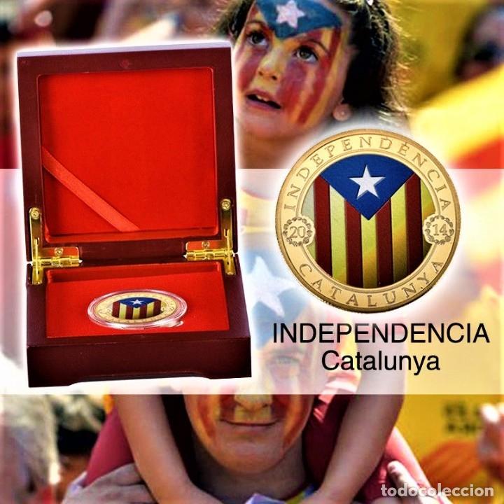Medallas temáticas: MONEDA ORO INDEPENDIENCIA DE CATALUÑA 2014 GOLD PLATED EN CAJA + CERTIFICADO - Foto 5 - 233609885
