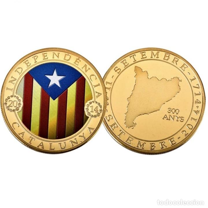 Medallas temáticas: MONEDA ORO INDEPENDIENCIA DE CATALUÑA 2014 GOLD PLATED EN CAJA + CERTIFICADO - Foto 6 - 233609885