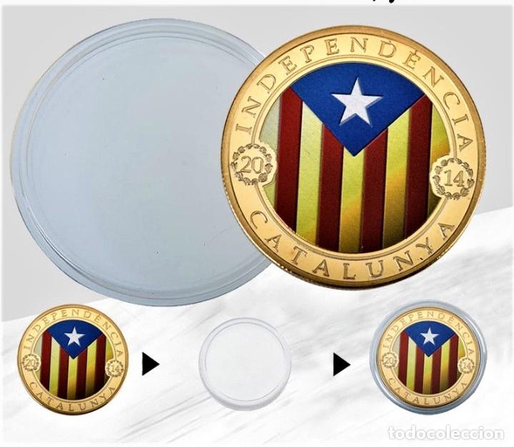 Medallas temáticas: MONEDA ORO INDEPENDIENCIA DE CATALUÑA 2014 GOLD PLATED EN CAJA + CERTIFICADO - Foto 7 - 233609885