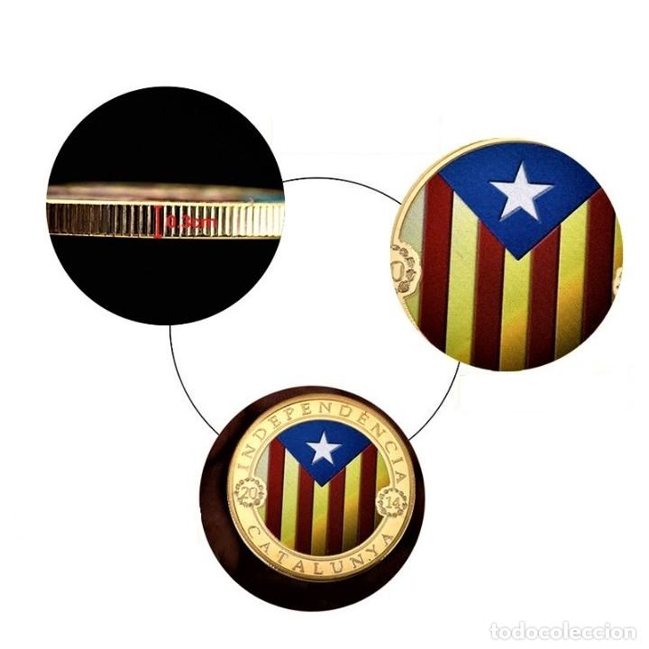 Medallas temáticas: MONEDA ORO INDEPENDIENCIA DE CATALUÑA 2014 GOLD PLATED EN CAJA + CERTIFICADO - Foto 8 - 233609885