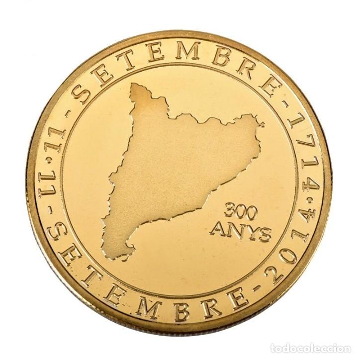 Medallas temáticas: MONEDA ORO INDEPENDIENCIA DE CATALUÑA 2014 GOLD PLATED EN CAJA + CERTIFICADO - Foto 10 - 233609885