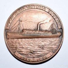 Medallas temáticas: MEDALLA XXXI SALON NAUTICO INTERNACIONAL 1992 BARCELONA,VAPOR REINA VICTORIA EUGENIA, DE VALLMITJANA. Lote 193772725