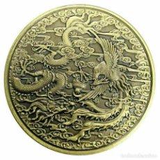 Medallas temáticas: MONEDA CONMEMORATIVA - DRAGON Y PATRON DE PHOENIX - PROTECCION - SUERTE. Lote 194186393
