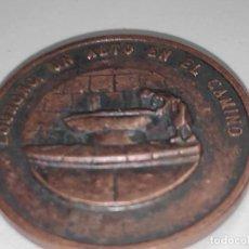 Medallas temáticas: LOGROÑO UN ALTO EN EL CAMINO-MEDALLA BRONCE VIEJO. Lote 194195206