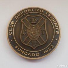 Medallas temáticas: MEDALLA DE BRONCE CLUB DEPORTIVO TENERIFE 75 ANIVERSARIO - 7 CM. Lote 194201642