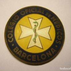 Medallas temáticas: PLACA IDENTIFICATIVA ANTIGUA PARA COCHE DE MÉDICO, BARCELONA. NUMERACIÓN MUY BAJA, Nº 2019.. Lote 194325787