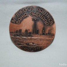 Medallas temáticas: JUEGOS NAUTICOS DE LA BAHIA GADITANA . Lote 194328880